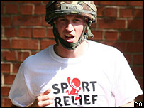 Prince William in a Sport Relief t-shirt
