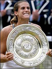Wimbledon champion Amelie Mauresmo