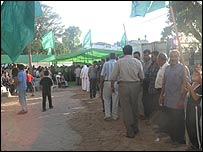 Funeral tent for Palestinians