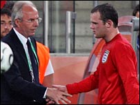 Sven-Goran Eriksson and Wayne Rooney