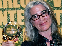 Director Laurie Collyer receives the top award of the 41st Karlovy Vary International Film Festival, the Crystal Globe, for her movie Sherrybaby