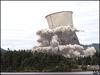 Nuclear plant being demolished