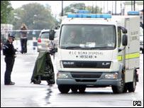 Bomb disposal experts in Benwell Grove, Newcastle