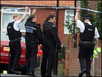Police at Benwell Grove in Newcastle