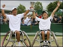 Satoshi Saida (l) and Shingo Kunieda (r)