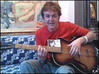 Sir Paul McCartney plays the Rex acoustic guitar