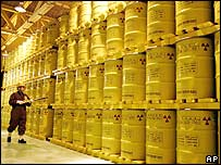Drums of nuclear waste