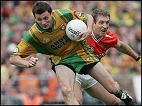 Action from the Armagh v Donegal Ulster football final