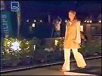 Tolo TV:  Model in Kabul fashion show