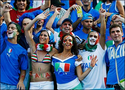 Italy fans are in great spirits ahead