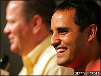 Juan Pablo Montoya junto a Chip Ganassi.