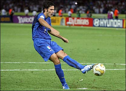 Fabio Grosso scores the decisive penalty