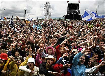 A crowd of fans at the T in the Park festival