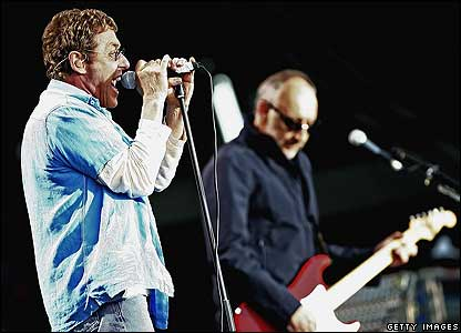 The Who's Roger Daltrey and Pete Townshend