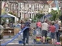 Street party in Monmouth Road,  Bishopston