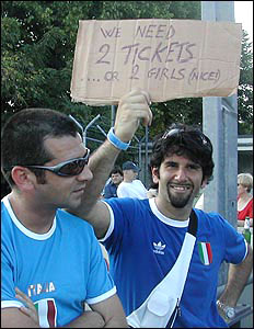Italy fans appeal for tickets