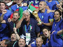 Italy celebrate World Cup win