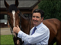 Sir Percy and trainer Marcus Tregoning