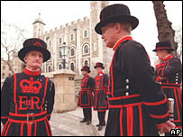 Beefeaters at Tower of London.  Image: AP