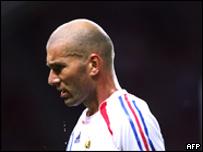 Zinedine Zidane durante la final ante Francia