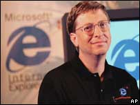Bill Gates at launch of IE 4.0, AP