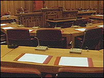 A council chamber (library)