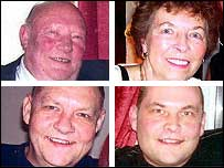 Clockwise from top left: Peter, Josie, Glen and Keith Purcell