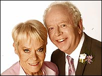 Wendy Richard and Ray Brooks in EastEnders
