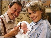 Bill Treacher and Wendy Richard in EastEnders