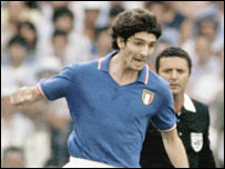 Striker Paolo Rossi transformed Italy in 1982
