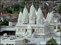 Hindu temple in Neasden, north-west London