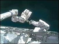 Astronaut outside ISS  Image: Nasa