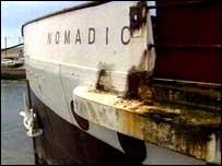 Prow of the SS Nomadic