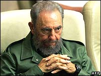 Fidel Castro seen on 9 June