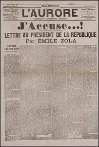Emile Zola's open letter J'Accuse