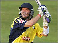 Gloucestershire batsman Ian Harvey