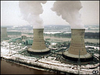 Three Mile Island, the site of the worst US nuclear accident