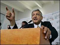 Candidato presidencial mexicano, Andrés Manuel López Obrador