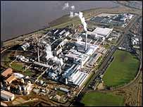 Huntsman Tioxide plant near Grimsby