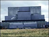 Hunterston B nuclear power station in Ayrshire