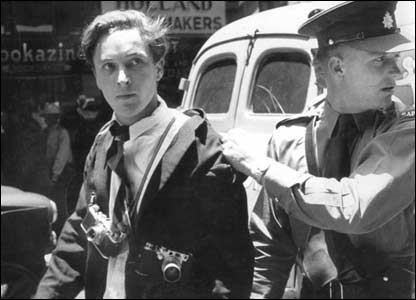Schadeberg being arrested