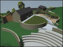 Artist impression of Rural Life Centre, Bala