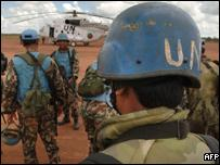 Nepalese troops make up part of the big UN contingent