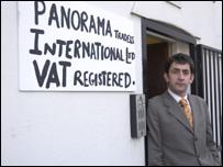 Panorama reporter Justin Rowlatt in his film
