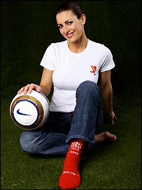Kirsty Gallacher is getting behind Sport Relief