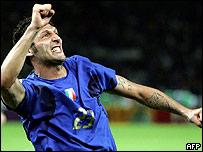 El defensa italiano Marco Materazzi.