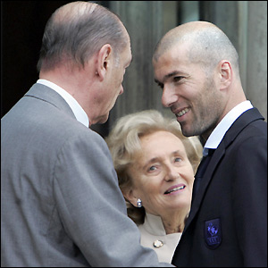 Chirac meets Zidane