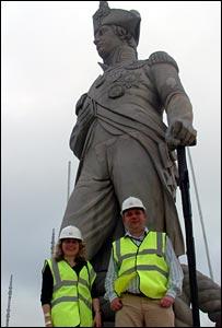 Huw Williams and Helen Weaver on Nelson's Column