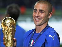 Italy's World Cup-winning captain Fabio Cannavaro