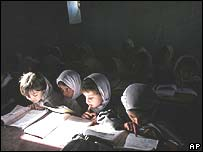 Girls studying in Kabul